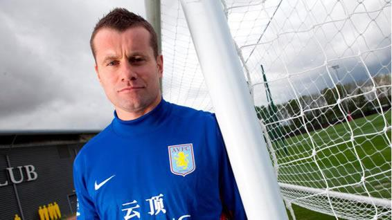 Shay Given innthe Aston Villa shirt