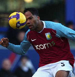 Joleon Lescott playing for Aston Villa